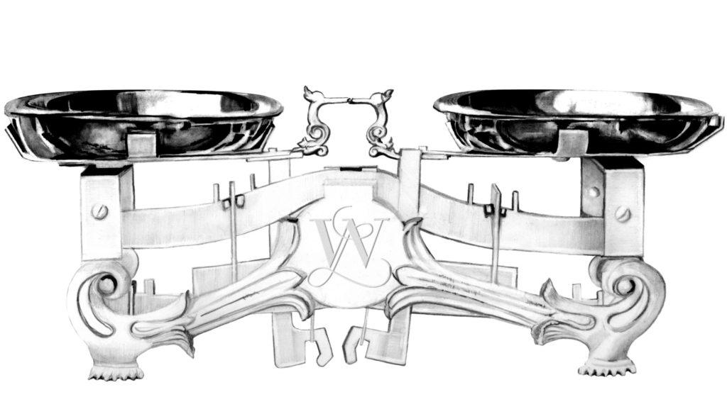 Scales hand drawn illustration